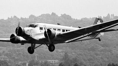 Fliegende Junkers Ju 52 mit Schweizer Zulassung, undatierte Aufnahme. (KEYSTONE/str)