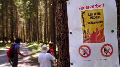 In St.Gallen besteht aufgrund der Trockenheit ein absolutes Feuerverbot. (Archivbild: Keystone)