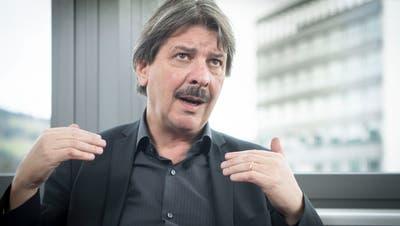 Ständerat Paul Rechsteiner im Interview mit Stefan Schmid (Bild: Ralph Ribi)