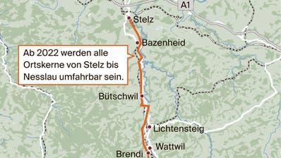 Strassenbau: Die Geschichte der Toggenburger Umfahrungen ist lang und beschwerlich