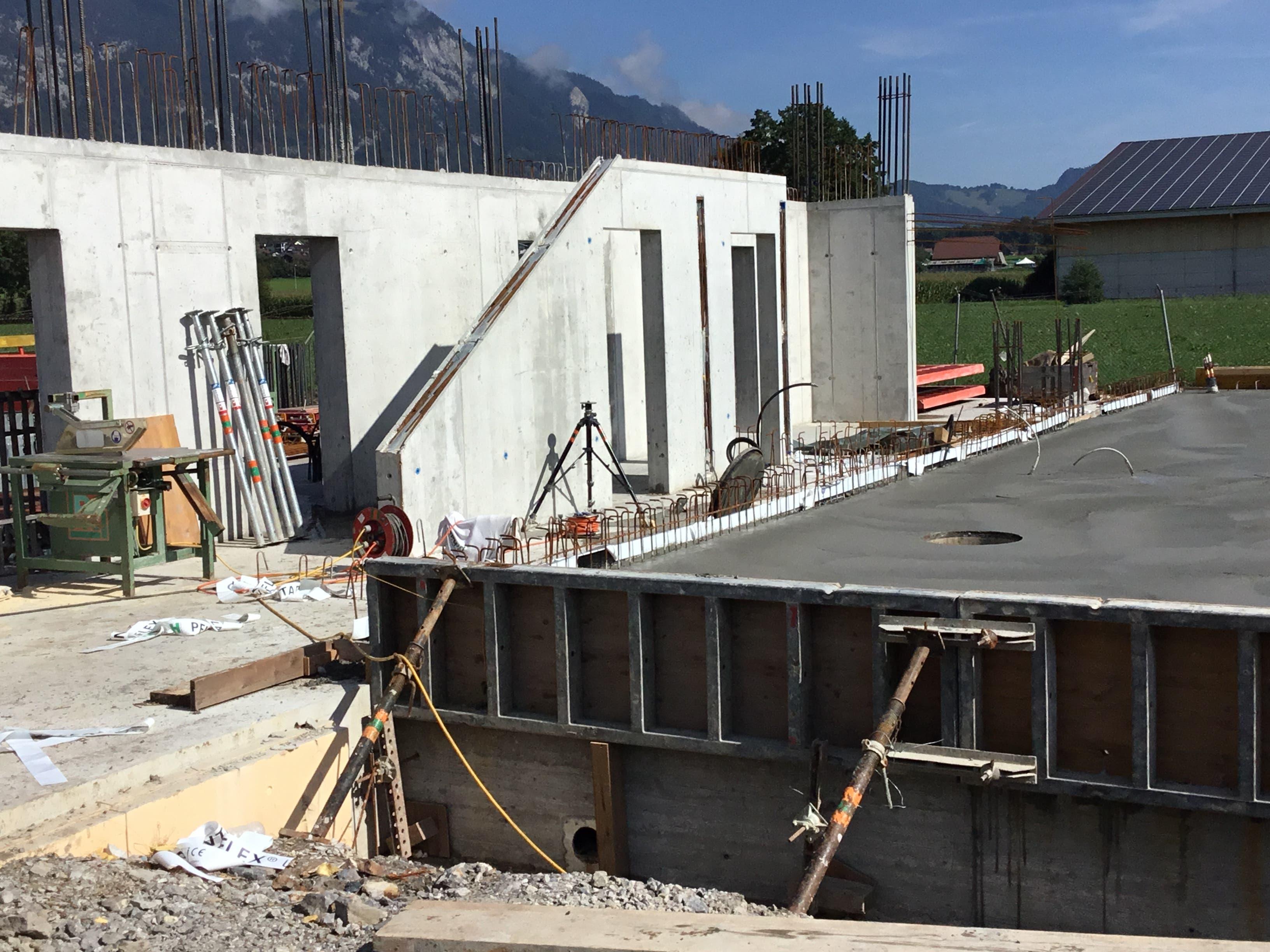 Impressionen von der Baustelle in Kägiswil. (Bild: PD)