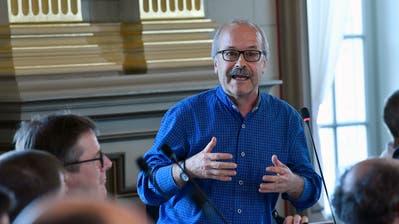 Peter Hartmann in derKantonsratssession im April 2018. (Bild: Regina Kühne)