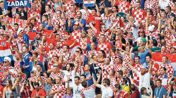 Kroatische Fussballfans.