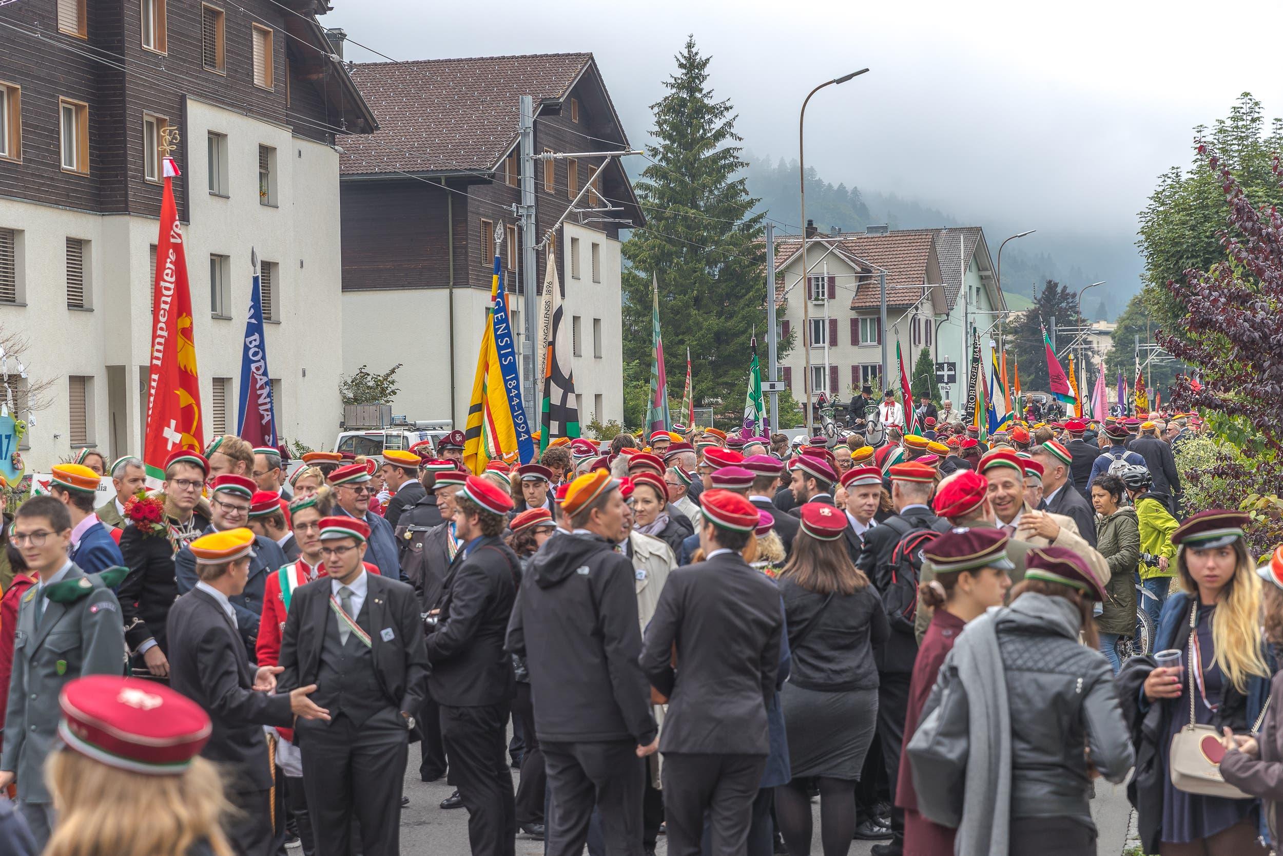Impressionen vom Zentralfest des Schweizerischen Studentenvereins in Engelberg. (Bilder: Daniel Lüthi, Engelberg, 2. September 2018)