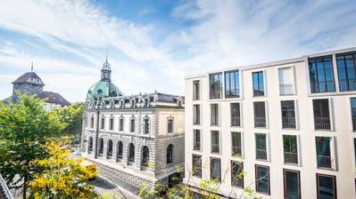 Blick auf alte und neue Postvom Gebäude vis-à-vis an der Rheinstrasse. (Bilder: Reto Martin und Andrea Stalder)