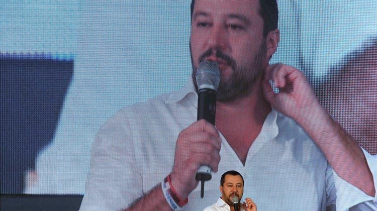 Der italienische Vize-Premier und Lega-Chef Matteo Salvini.Bild: Alessandra Tarantino/AP (Rom, 22. September 2018)