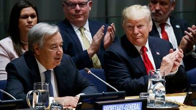 Trump fordert vor Uno Engagement gegen Drogenmissbrauch