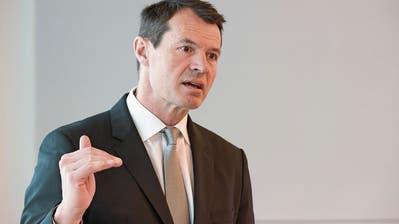 Guy Lachappelle an einer Bilanzmedienkonferenz der Basler Kantonalbank in Basel. (Bild: Georgios Kefalas/Keystone, 1. März 2018)