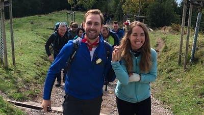 Marco Kunz wandert mit seiner Freundin auf die «Königin der Berge», um ihr das Ja-Wort zu geben. (Bild: Facebook)