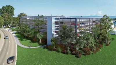 Altenrhein baut beim Flugplatz ein Parkhaus mit 700 Plätzen