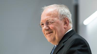 Bundesrat Johann Schneider-Ammann während der Medienkonferenz zu seinem Rücktrittauf Ende Dezember 2018. (Bild: Peter Schneider/Keystone (Bern, 25. September 2018))