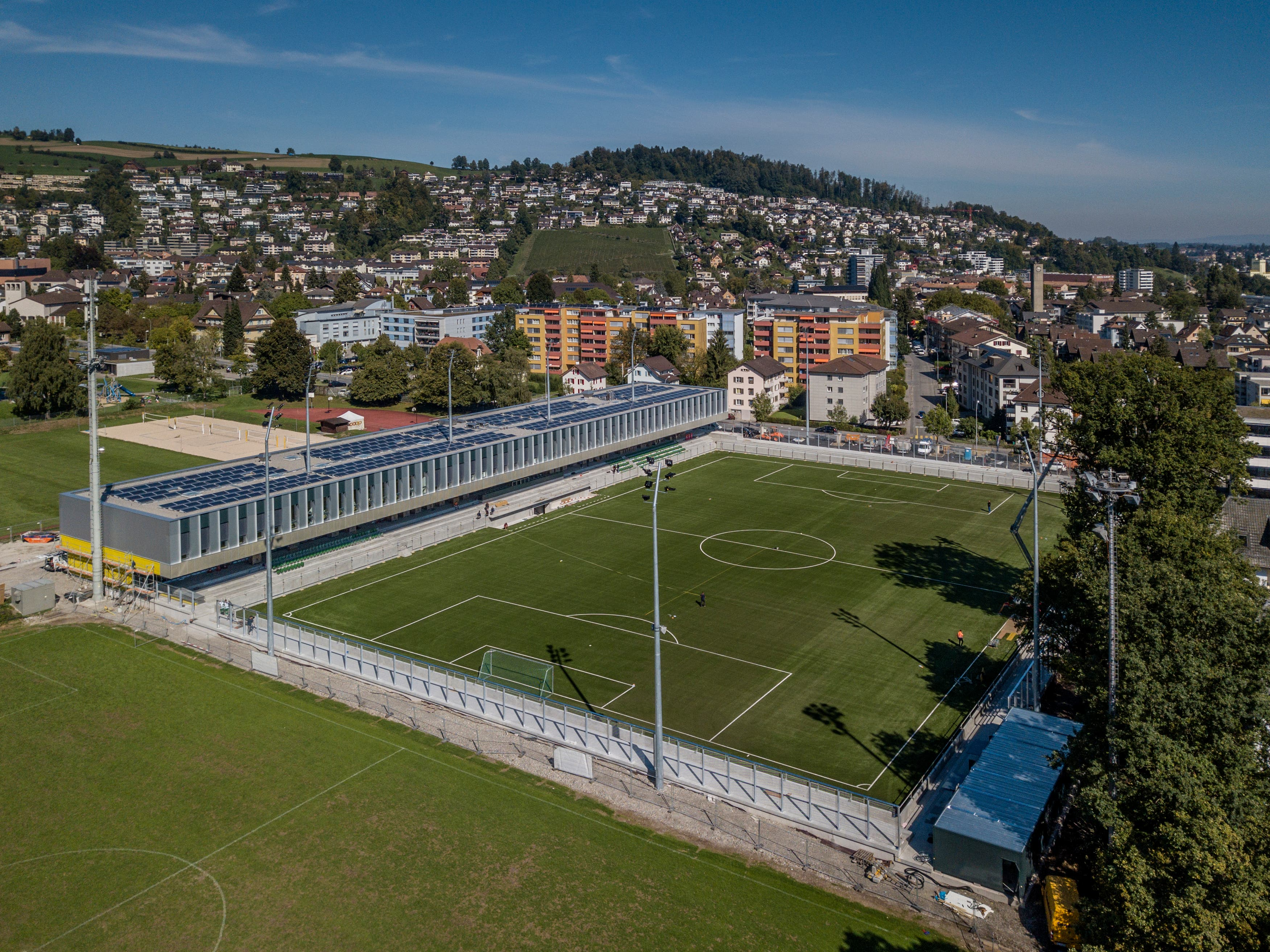 Gespielt wird im neuen SCK-Stadion auf Kunstrasen. Bild: Pius Amrein (Kriens, 26. September 2018)