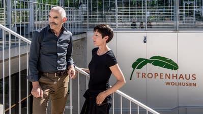 Sind seit Tag 1 beim Tropenhaus Wolhusenmit dabei: Geschäftsführer Pius Marti und Restaurationsfachfrau Monika Leuenberger. (Bild: Nadia Schärli, Wolhusen, 27. September 2018)