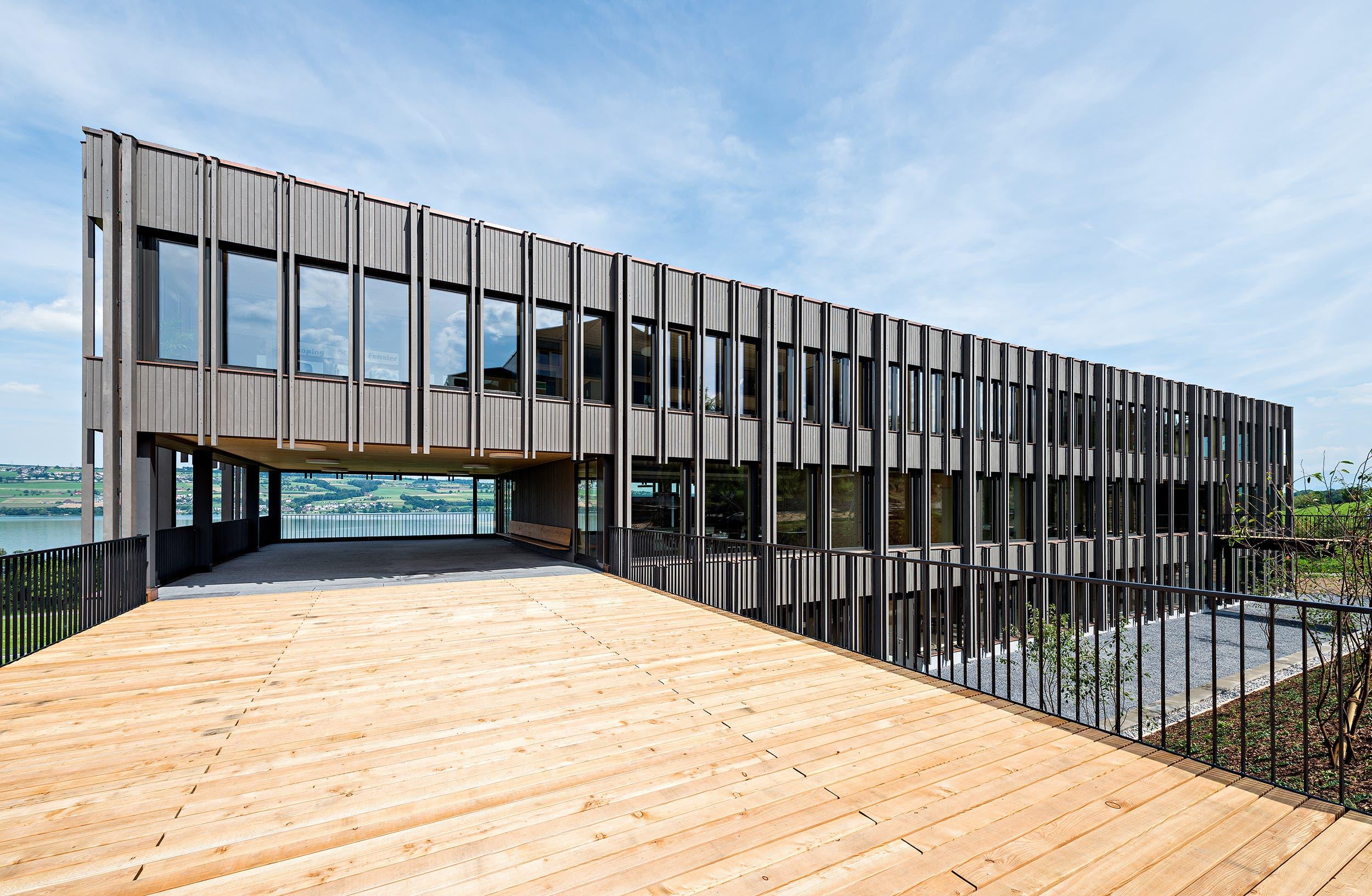 Erhielt einen Anerkennungspreis: der Erweiterungsbau der Schule Nottwil. (Bild: PD)