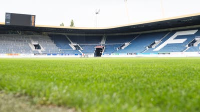 Der Gräserbestand in der Swisspor-Arena sorgte für Negativschlagzeilen. (Bild: Roger Grütter (18. September 2018))
