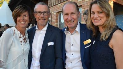 Silvia Hiestand, Fahrion & Partner Gartenbau, TKB-CEO Heinz Huber, Gottlieber Hüppen CEO  Dieter Bachmann und Ehefrau Isabella Bachmann. (Bild: Margrith Pfister-Kübler)