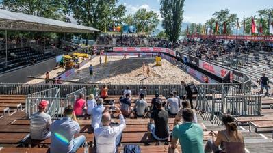 Die Beach Volleyball World Tour auf dem Lido in Luzern fand im Mai zwar statt, die Zukunft des Turniers ist derzeit jedoch völlig unklar. (Bild: Pius Amrein 11. Mai 2018)