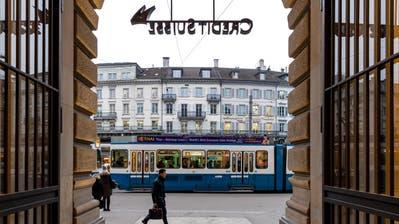 Credit Suisse CS Filiale am Paradeplatz Zürich. (Bild: Philipp Schmidli)