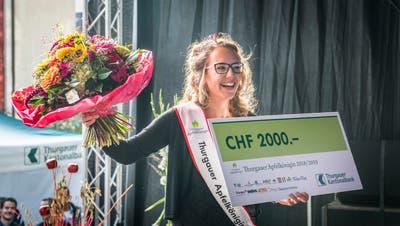 Weinfelden TG - Wahl der Apfelkönigin 2018/19. Die neue Apfelkönigin heisst Melanie Maurer aus Sulgen.