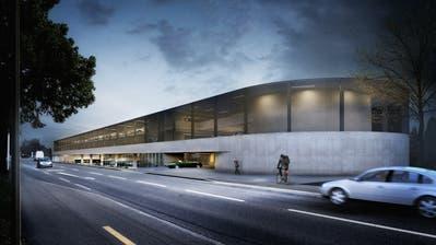 Visualisierung des Parkhauses am Hafenbahnhof. (Bild: PD/LoomnArchitekturvisualisierungen)