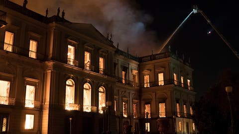 Grossbrand verwüstet Nationalmuseum Brasiliens in Rio de Janeiro
