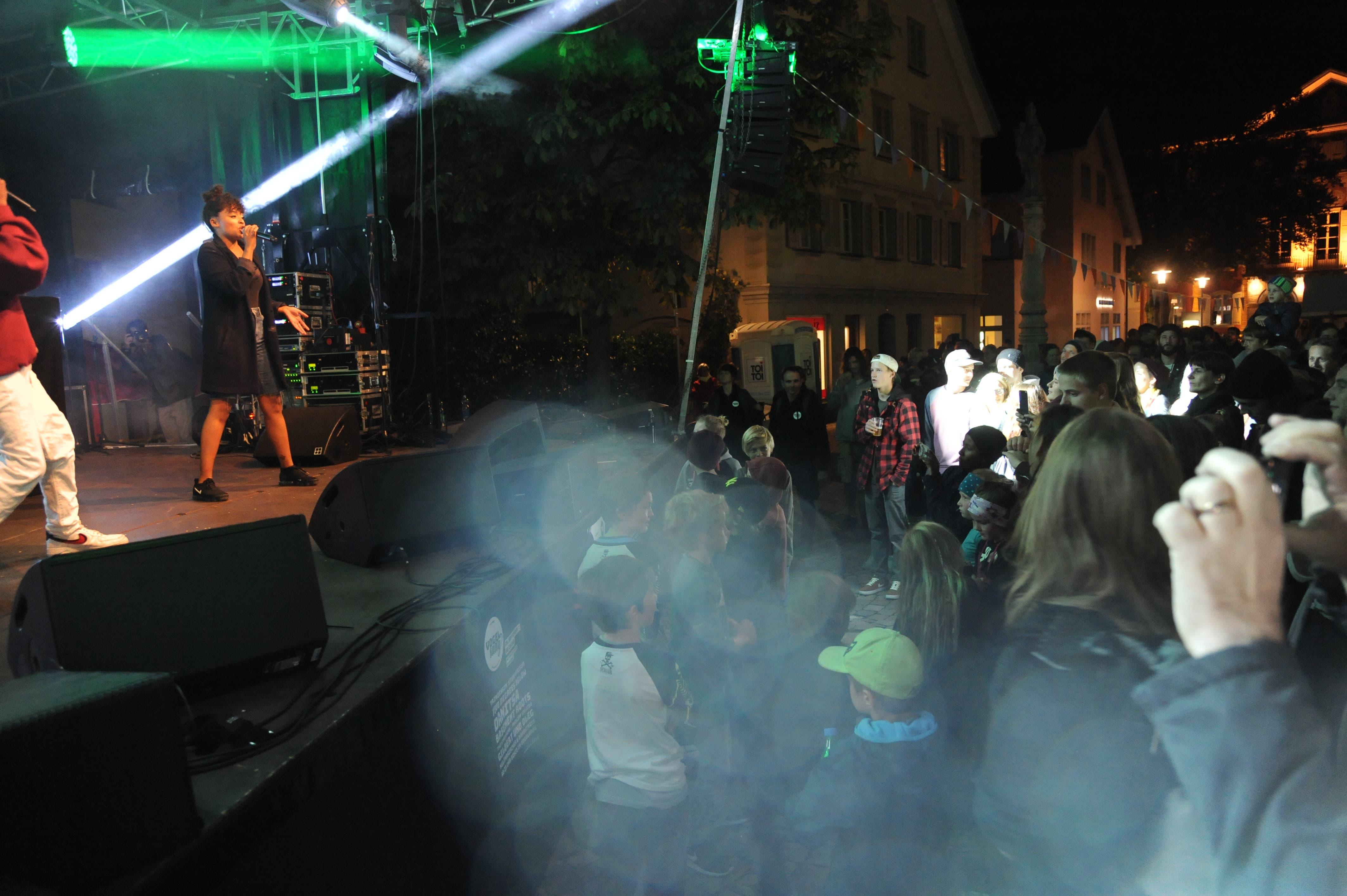 Hauptact Danitsa bei ihrem Auftritt. (Bild: Urs Hanhart (Altdorf, 29. September 2018))