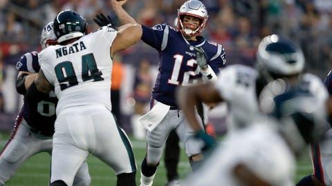 Fünfmal gewann er bereits die Superbowl: Superstar Tom Brady. (Bild: Charles Krupa/AP (Foxborough, 16. August 2018))