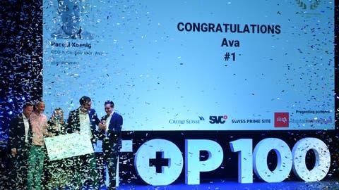 Siegerehrung für das Jungunternehmen Ava. (Bild: PD)