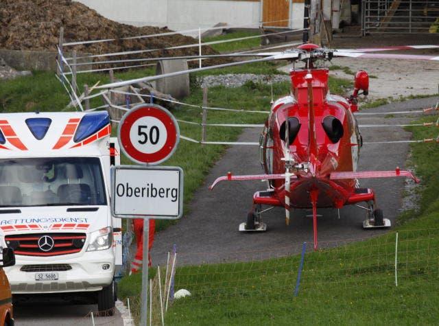 Der Unfall ereignete sich eingangs Oberiberg. (Bild: Geri Holdener/Bote der Urschweiz (Oberiberg, 5. September 2018))