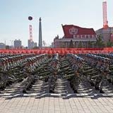 Nordkoreanische Elitesoldaten während des Aufmarschs in der Hauptstadt Pjöngjang. (Bild: Kin Cheung/AP; 9. September 2018)