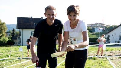 Regierungsrätin Monika Knill lief bei der Öpfel-Trophy in Müllheim mit
