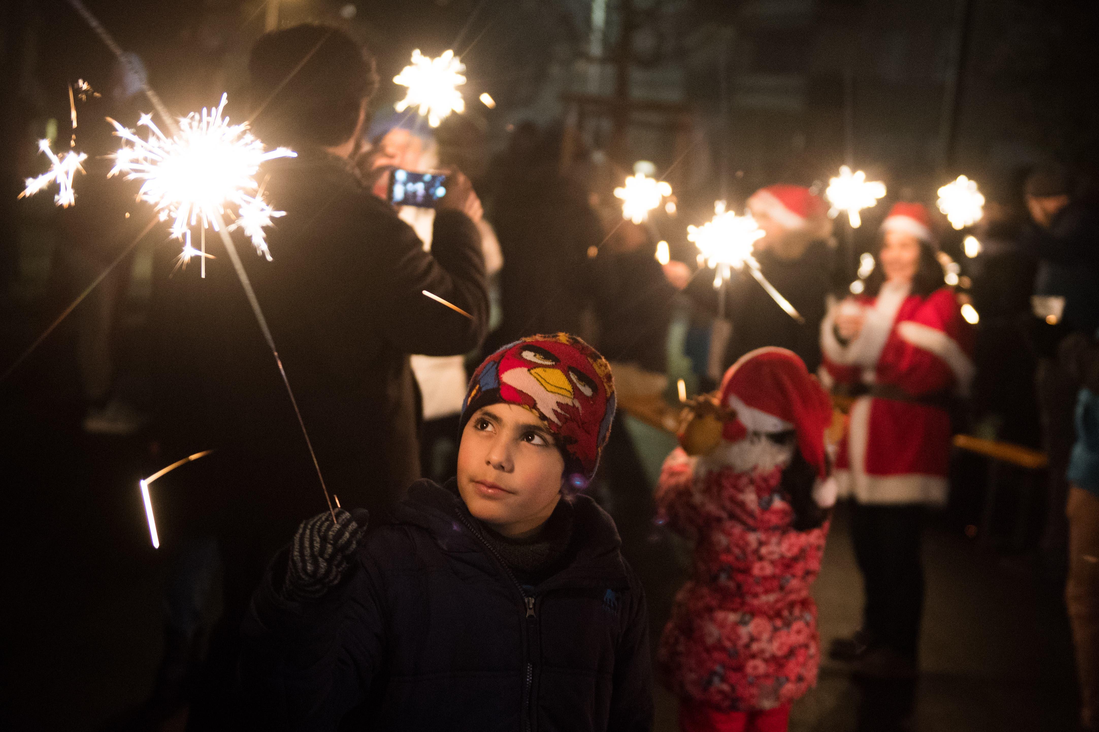 Gut 300 Personen waren am Fest anwesend. (Bild: Boris Bürgisser, Kriens, 31. Dezember 2018)