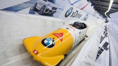 Pius Meyerhans (vorne) darf nur noch im Viererbob Weltcup fahren. Bild: pd (Königsee, 10. Januar 2018)