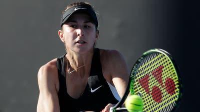 Belinda Bencic während ihrer Erstrundenpartie gegen Katerina Siniakova. (Bild: Aaron Favila/AP Photo (Melbourne, 14. Januar 2019))