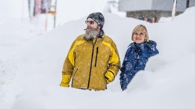 Das Dorf ist bis auf den Bahnbetrieb von Göschen abgeschnitten.Viel Schnee in AndermattFotografiert am 14. Januar  2019 in Andermatt.Nadia Schärli / Luzernerzeitung