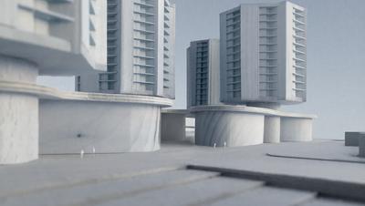 So könnten die Hochhäuser dereinst aussehen. (Visualisierung: ArchitekturbüroIwan Bühler)