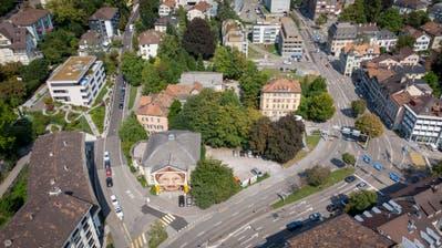 Das Areal am Platztor in St.Gallen. Hier sollder neue Campus der Universität St.Gallen entstehen. (Bild: Urs Bucher)