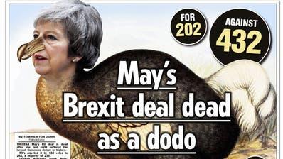 «Mausetot»: Die Pressestimmen nach dem Brexit-Desaster