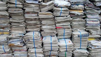 Der ZAB führt jährlich gegen 11'000 Tonnen Altpapier und Karton der Wiederverwertung im Inland und dem grenznahen Ausland zu. (Bild: Nana do Carmo)