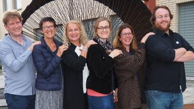 Das OK der Kulturbühne 2018: von links Projektleiter Pascal Mettler, Irène Häne, Monica Quinter, Nicole Losurdo, Kathrin Dörig und OK-Präsident Michael Sarbach. (Bild: PD)