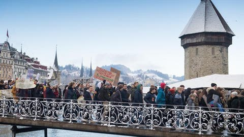 Luzerner Kantischüler schwänzen fürs Klima