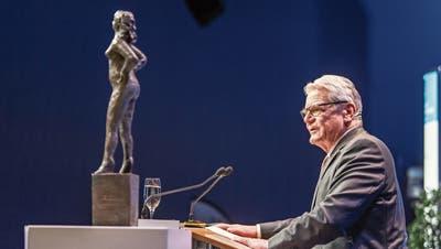 Joachim Gauck am Rheintaler Wirtschaftsforum in Widnau. (Bild: Michel Canonica)