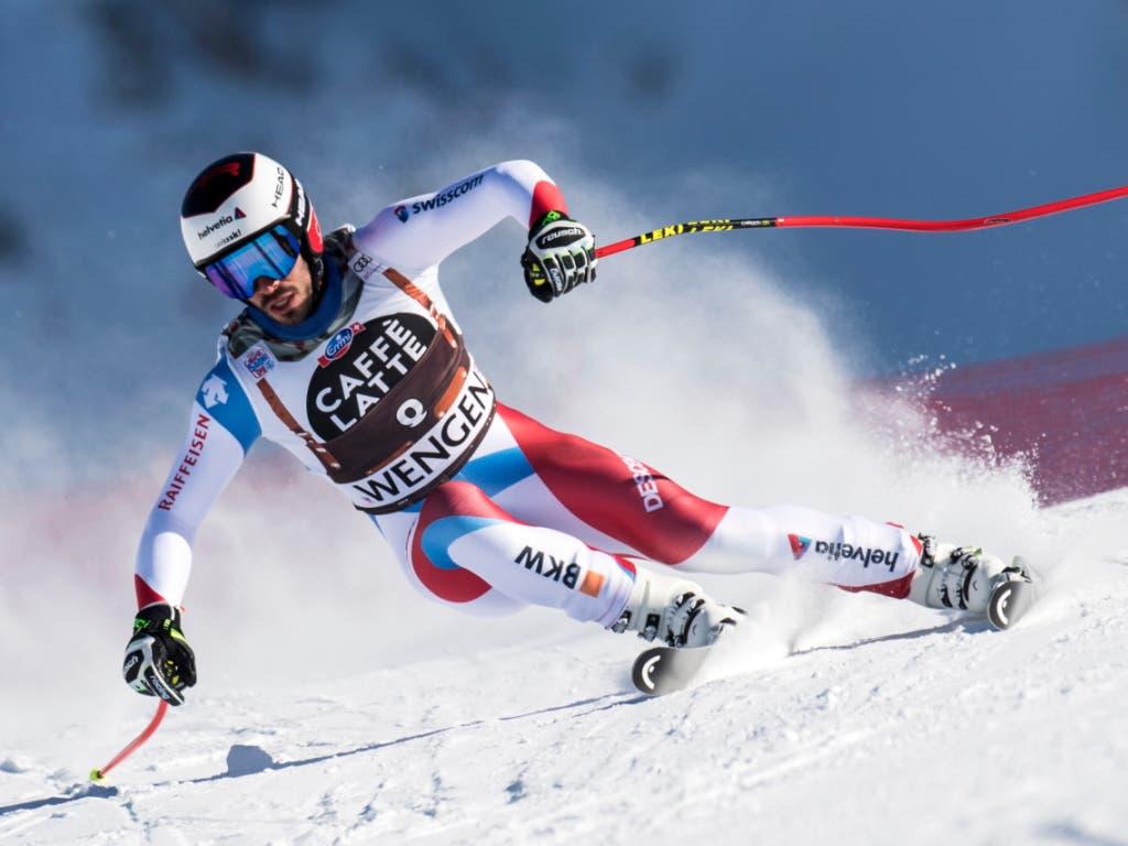 Gilles Roulin lieferte mit Platz 10 sein zweitbestes Ergebnis im Weltcup ab (Bild: KEYSTONE/JEAN-CHRISTOPHE BOTT)