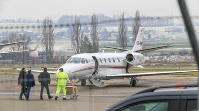 250 zusätzliche Flugbewegungen zählt der Airport Altenrhein während des WEF. (Bild: Raphael Rohner)