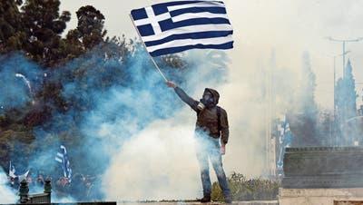 Am vergangenen Wochenende protestierten Griechen gegen die geplante Vereinbarung mit Mazedonien. Bild: Miloxs Bicanski/Getty (Athen, 20. Januar 2019)