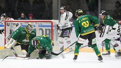 Der HC Thurgau (hier im Spiel gegen Visp) musste am Dienstag gegen Langenthal erstmals im Kalenderjahr 2019 vor heimischem Publikum als Verlierer vom Eis. (Bild: Mario Gaccioli, Weinfelden, 15. Januar 2019)