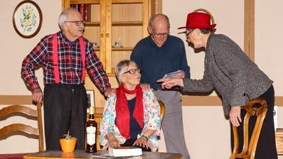 Ein Bild aus den aktuellen Proben der Seniorenbühne Frauenfeld. Am 3.Februar findet die Premiere statt. (Bild: PD)