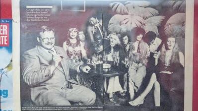 Anfang der 1980er-Jahre durchlief das «Rössli» des damaligen Nachtklubkönigs Hans Bieri wilde Zeiten, wie Zeitungsartikel im Treppenhaus des Hotels zeigen. (Bilder: Privatarchiv/Boris Bürgisser (12. April 2018))