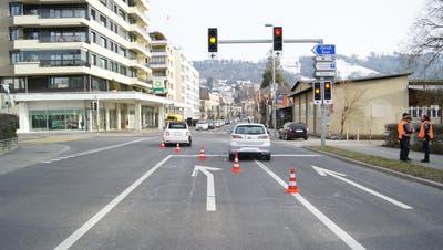 Der Unfall ereignete sich bei der Verzweigung Chamer-/Aabachstrasse. (Bild: Zuger Polizei)
