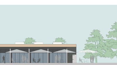 Visualisierung des neuen Pavillons am See. (Bild: PD)